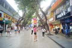 Shenzhen Xixiang commercial pedestrian street landscape, in China Royalty Free Stock Photo
