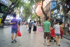Shenzhen Xixiang commercial pedestrian street landscape, in China Royalty Free Stock Photos