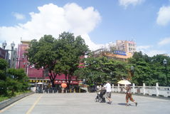 Shenzhen Xixiang commercial street landscape Royalty Free Stock Images