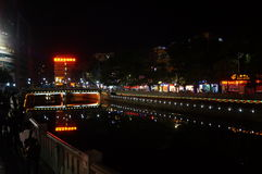 Shenzhen Xixiang River night landscape, in China Royalty Free Stock Photography