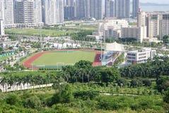 Shenzhen xixiang Sportzentrumpanorama Stockfoto