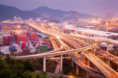 Shenzhen Yantian Port overpass Royalty Free Stock Image