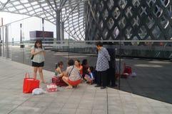 Shenzhen zatoki centrum sportowego budynku wnętrza krajobraz Obraz Royalty Free