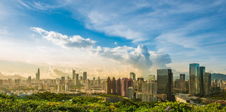 Shenzhenpanorama Royalty-vrije Stock Foto's
