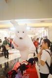 Shenzhenwinkelcomplexxen, de grote Tentoonstelling van het beerstandbeeld Royalty-vrije Stock Fotografie