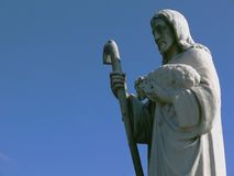 The Shepard. Detail view of memorial park marble statuary Royalty Free Stock Photo