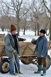 Shepherds talking Royalty Free Stock Photo