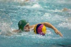 Shepelev Roman. Sintez(Kazan) team of waterpolo stock photo