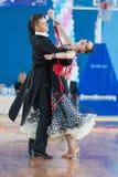 Shepelev Vladislav e programa padrão de Vinnik Aleksandra Perform Youth-2 Imagens de Stock Royalty Free