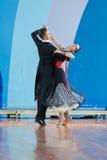 Shepelev Vladislav och Vinnik Aleksandra Perform Youth-2 standart program Arkivbilder