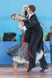 Shepelev Vladislav and Vinnik Aleksandra Perform Youth-2 Standard Program. Minsk, Belarus –April 3, 2016: Shepelev Vladislav and Vinnik Aleksandra Perform royalty free stock images