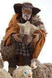 The sheperd and his sheep of the crib Stock Images