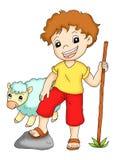 Shepherd. Digital illustration of a nice shepherd royalty free illustration