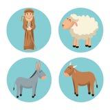 Shepherd cartoon design Stock Images