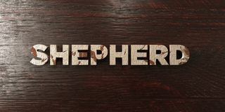 Shepherd - grungy wooden headline on Maple  - 3D rendered royalty free stock image Royalty Free Stock Images