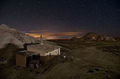 Shepherd hut at desert night Royalty Free Stock Photo