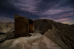 Shepherd hut at desert night Stock Photo