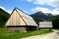 Shepherd huts in the Tatra mountains Stock Image