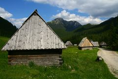 Shepherd huts in the Tatra mountains Stock Photography
