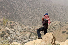 Shepherd in Jordan Stock Images