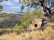 Shepherd' riparo della pietra di s - Viana fotografie stock libere da diritti