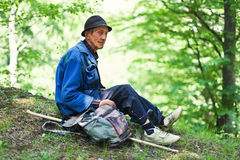 Shepherd in Romania Royalty Free Stock Images