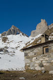 Shepherd's cabin in the french pyrenees Stock Photography