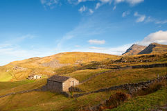 Shepherd's hut made of rock in the mountain pastures Stock Images