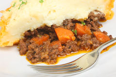 Shepherd's Pie. Freshly baked shepherd's pie close up Stock Photos