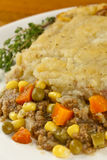 Shepherd's Pie. Close shot of shepherds pie made with organic ingredients Stock Photography