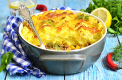 Shepherd's pie with corn. Stock Image