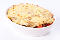 Shepherd's pie made with ground lamb, fresh vegetables Stock Photos