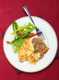 Shepherd's pie meal from above Royalty Free Stock Photos