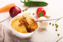 Shepherd's pie with potato Royalty Free Stock Photos