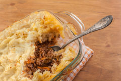 Shepherd's pie on a table Royalty Free Stock Photos