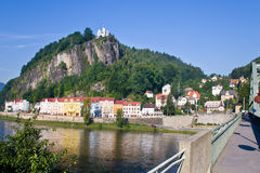 Shepherd´s rock, Town Decin, Czech republic Stock Image