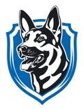 Shepherd security emblem Stock Photography