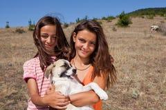 Shepherd sisters Stock Image
