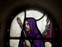 Shepherd In Stained Glass Stock Image