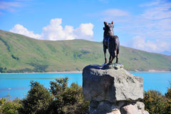Shepherd statue at the lake Tekapo Royalty Free Stock Images