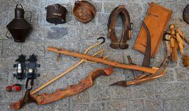 Shepherd Tools Display on Wall Royalty Free Stock Photo
