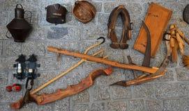 Shepherd Tools Display on Wall Royalty Free Stock Photo