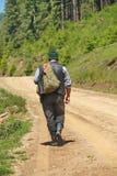 Shepherd walking Stock Photography