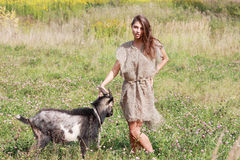 Shepherdess. Stock Images