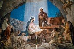 Shepherds` Fields Chapel Bethlehem. Ceiling Painting At Shepherds` Fields Chapel In Bethlehem Royalty Free Stock Images