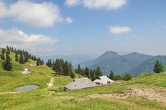 Shepherds Huts Velika Planina, Slovenia Royalty Free Stock Photos