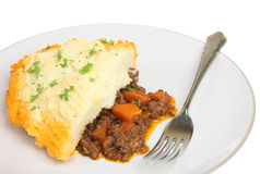Shepherds Pie. Isolated on white Royalty Free Stock Photos