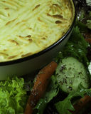 Shepherds Pie. With side salad, a delicious family meal Stock Photo