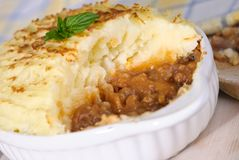 Shepherds Pie Close Up Royalty Free Stock Images