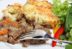 Shepherds pie dinner Royalty Free Stock Photography